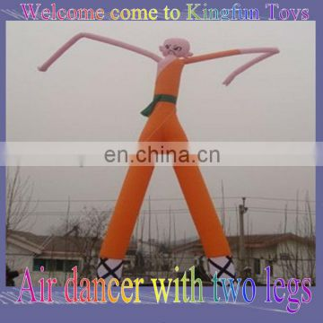 Inflatable sky dancer with two legs