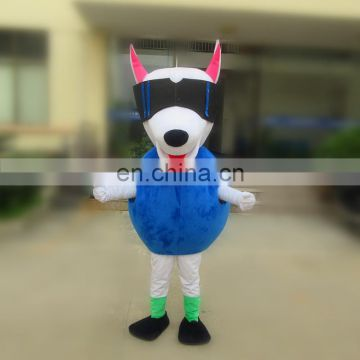 2017 popular OEM service animal adult glasses dog mascot costume