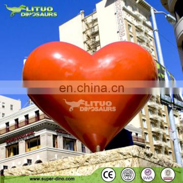 Fiberglass Heart Sculpture for Landscape Decoration