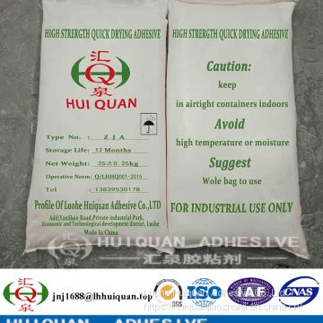 Adhesive strach glue used on paper carton