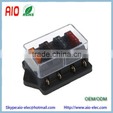 Universal Car Truck Vehicle 12v 4 Way Circuit Automotive Middle-sized Blade Fuse Box Block Holder