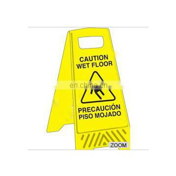 Yellow Safety Sign Made of PP, Weighs 560 to 800g