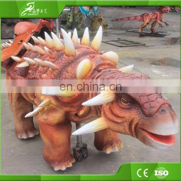 Realistic life-size walking dinosaur ride for kids