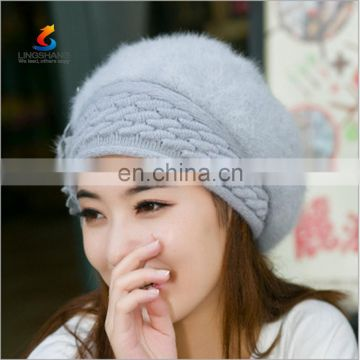 Lingshang Different Colours 100% Acrylic Knitted Beanie Hat Made In China