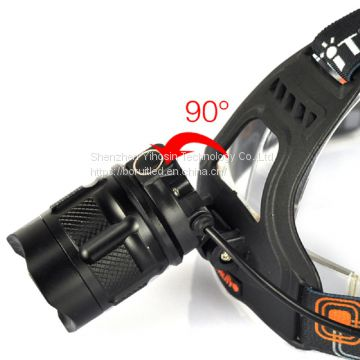 Zoom Headlamp Camping Light USB Rechargeable Head Lights RJ-2157
