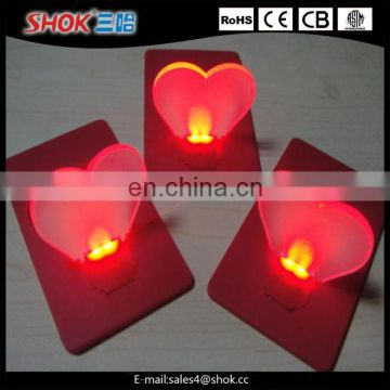2016 Hot sell new design cheap Doulex/Mini Led card lights