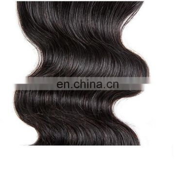 Wholesale human hair lace closure peruvian virgin hair body wave natural color hair closure