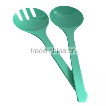 Endurable green biodegradable bamboo fiber spoon