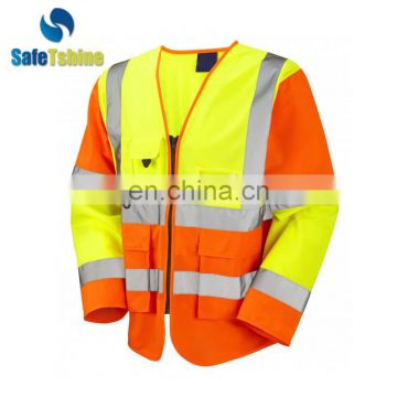 Sell well new type reflective hot selling cheap safety vest long sleeve clothing