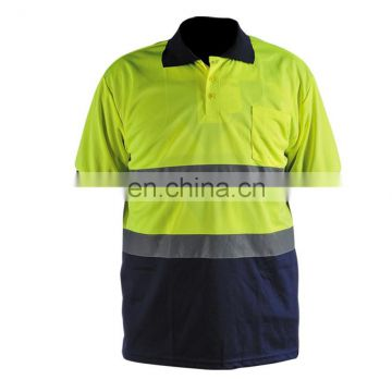 High Visibility fluorescent Reflective Safety T-shirts in Work clothing