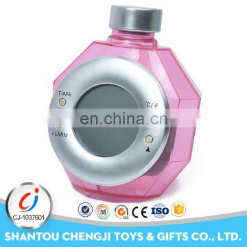 China manufacture plastic funny water powered clock
