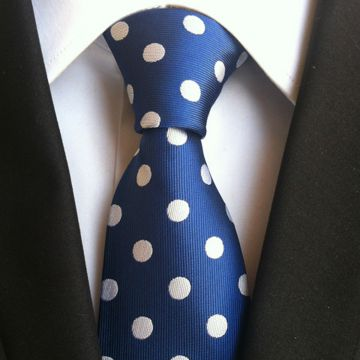 High Manscraft Solid Colors Silk Woven Neckties Dots White