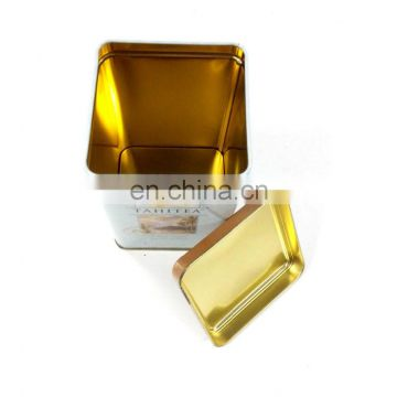 square wholesale tea tin, promotional tin can,coffee tin box