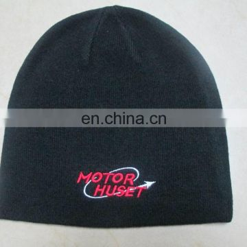 cabcdedef7fb5 black color warm beanie hat with embroidery logo of knitted hat   beanie hat  from China Suppliers - 158616548