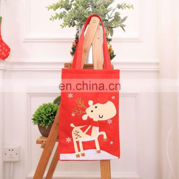 Christmas Gift Treat Bags Xmas Souvenir Felt Handbag for Christmas Decoration