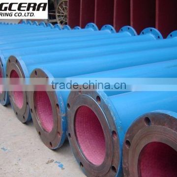 alumina ceramic lined wear resistant pneumatic conveying tube