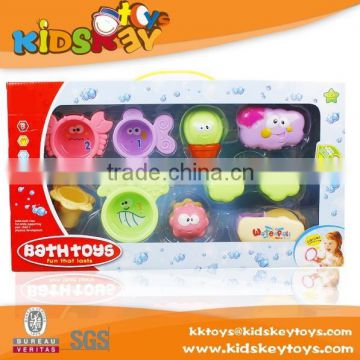 new product funny education bath set Rainbow Fish Crab Cartoon water toy baby bath toys for kids