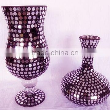 Customized China professional manufacturer black mosaic vase wholesale
