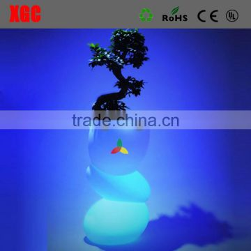 plastic led light flower pot, planter flower pot GD110