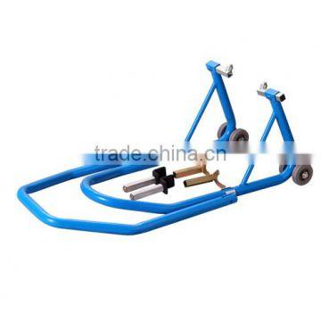 Front Rear Bike paddock Stand Wheel Lift Chock Garage Motorcycle Cruiser