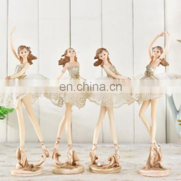 resin statue decoration , resin ballet dancer girl statue