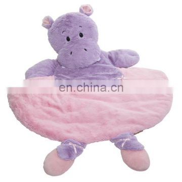 Baby fluffy plush soft playmat with anti-slip bottom