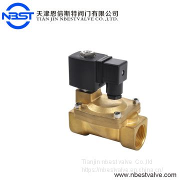 Diaphragm NPT Thread DN32 1/2'' Solenoid Valve Brass Pilot Operated