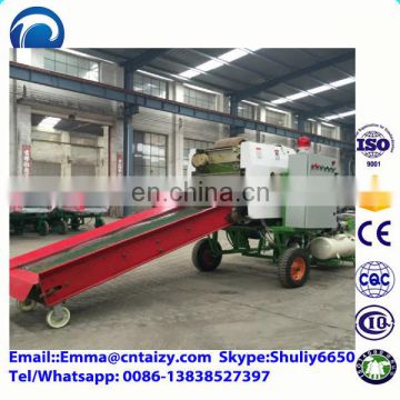 easy operation grass wrapping machine automatic round corn silage bale and coatingmachine green silage round baling machine