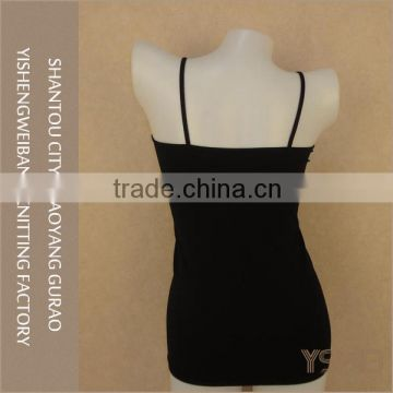 Customized color women bulk lace camisole tops