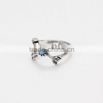 Six pc one set pirate finger ring classic antique silver crescent arrow tribal ring set fashion jewelry