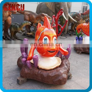 Park Equipment Handmade Fiberglass Fish Statue