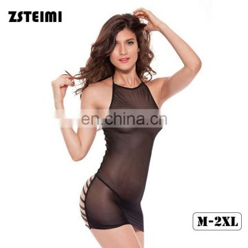 New Model Sheer Body Sex Open Backless Tight Lingerie Sexy Lady Underwear