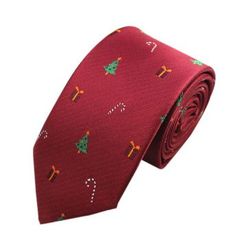 White Printed Mens Jacquard Neckties Boys Summer