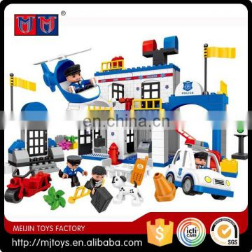 2016 Plastic Educational children toys puzzle police blocks