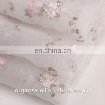 2015 gorgeous dress fabric bright embroidery swiss voile