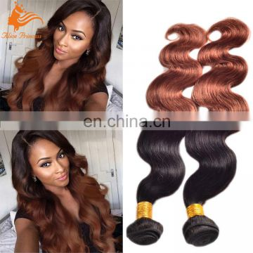 Wholesale 7A Ombre Human Hair Weave Bundles Body Wave 1BT33 Two Tone Color Indian Hair Weave In New York