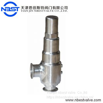 DN50 Automatic Clamp Type SS316 Sanitary steam Safety Valve