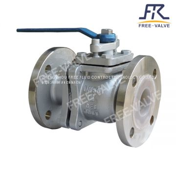 FRQ41F46 Flange Fluorine Lined Ball Valve