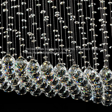 Popular Crystal Pendant Light LED Decorated Chandeliers for hotel hall and villa living room