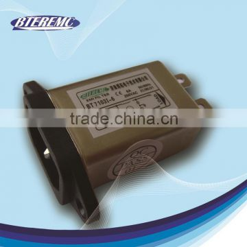 Anti electromagnetic interference power entry module single fuse holder filter with CE RoHS Certification