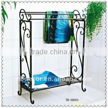 Bathroom Black Color Metal Towel Rack