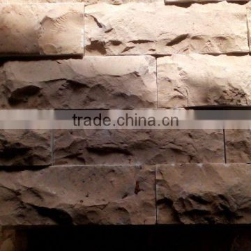 Yellow limestone mushroom wall decoration stone