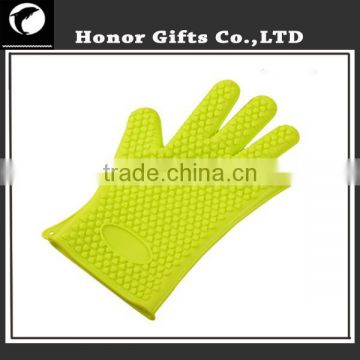 Customized Logo Wholesale Waterproof Heat Resistant Non-stick Silicone Gloves