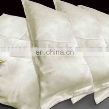 Relaxing fadeless handmade 100% charmeuse silk pillowcase whithout edge