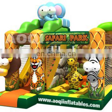 2015 new design safari park inflatable combo