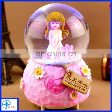 beautiful girl snow globe for home decoration