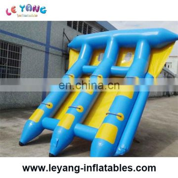 6 people blue and white water inflatable flying fish for tied for adult as water game