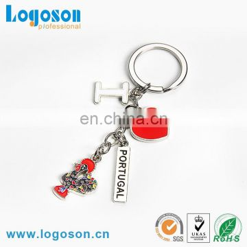 Hot selling loverly cock shaped keychain