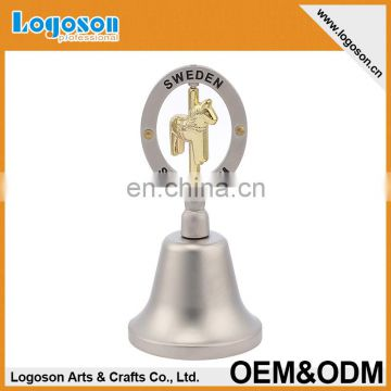 Engraved golden custom logo Silver Sweden Stockholm souvenir dinner bell