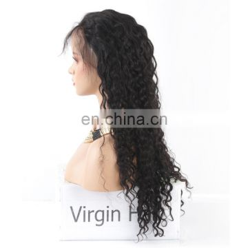 Curly wig for black women human hair full lace wig